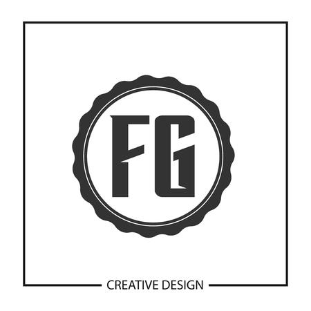 Initial Letter FG  Template Design