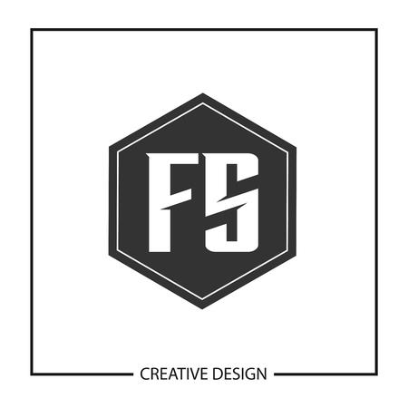 Initial Letter FS  Template Design Ilustração