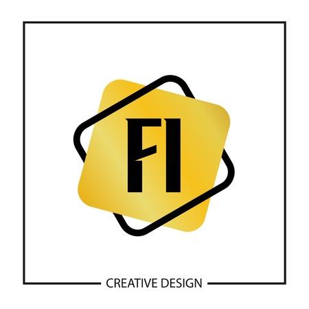 Initial Letter FI Template Design Stok Fotoğraf - 125076804