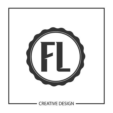 Initial Letter FL Template Design