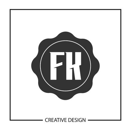 Initial Letter FK Template Design