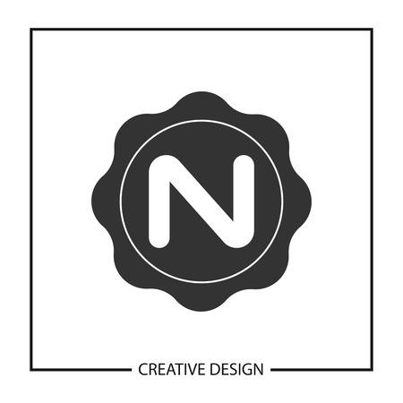Initial Letter N Template Vector Design 向量圖像