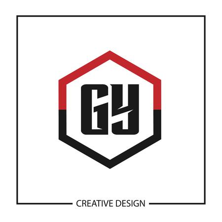Initial Letter GY Template Design Vektoros illusztráció