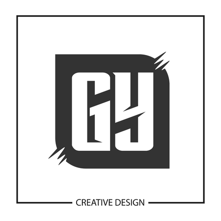 Initial Letter GY Template Design