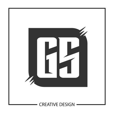 Initial Letter GS  Template Design Illusztráció