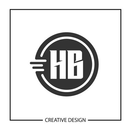 Initial HB Letter Logo Template Design Illustration