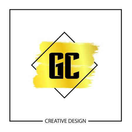 Initial Letter GC Logo Template Design