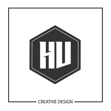 Initial HV Letter Logo Template Design Illustration
