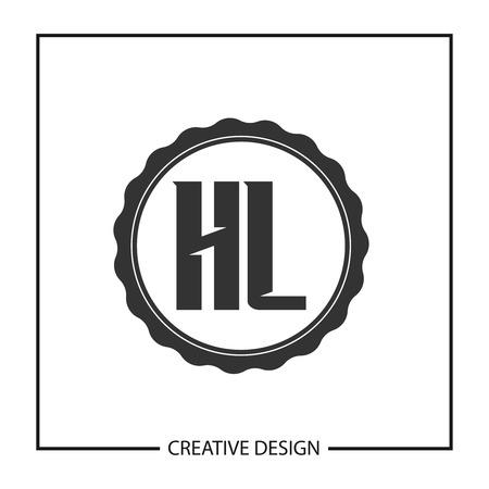 Initial HL Letter Logo Template Design