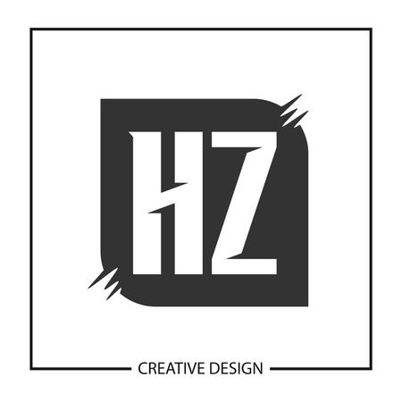 Initial HZ Letter Logo Template Design Logó