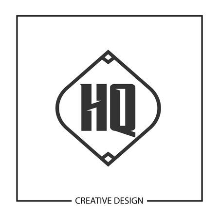 Initial HQ Letter Logo Template Design