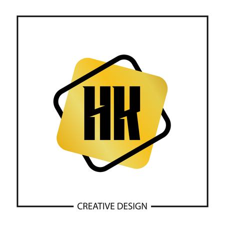 Initial HK Letter Logo Template Design