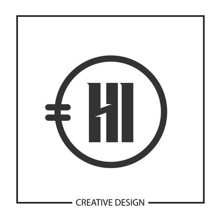 Initial HI Letter Logo Template Design Stok Fotoğraf - 112432945