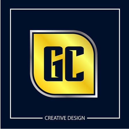 Initial Letter GC Logo Template Design Logó
