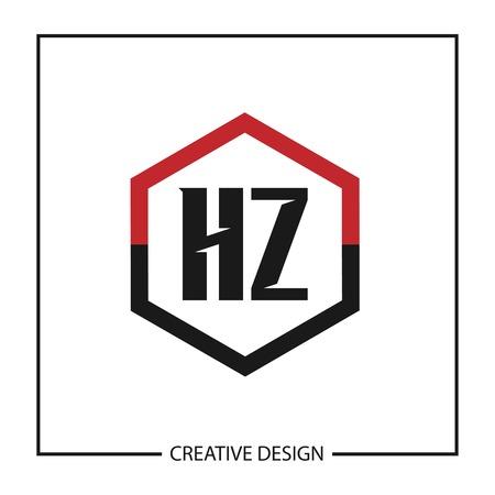 Initial HZ Letter Logo Template Design