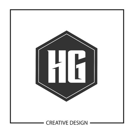 Initial HG Letter Logo Template Design