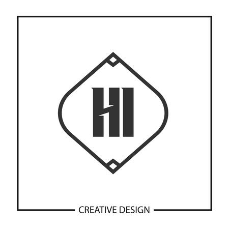 Initial HI Letter Logo Template Design