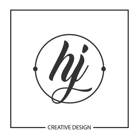 Initial HJ Letter Logo Template Design