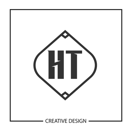 Initial HT Letter Logo Template Design