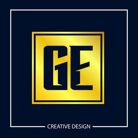 Initial Letter GE Logo Template Design