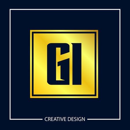Initial Letter GI Logo Template Design