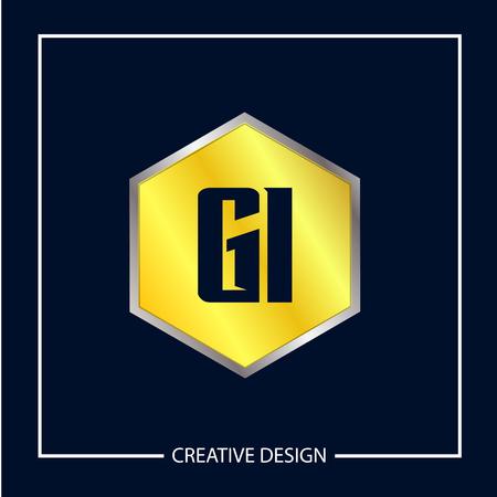 Initial Letter GI Logo Template Design Stok Fotoğraf - 112434502