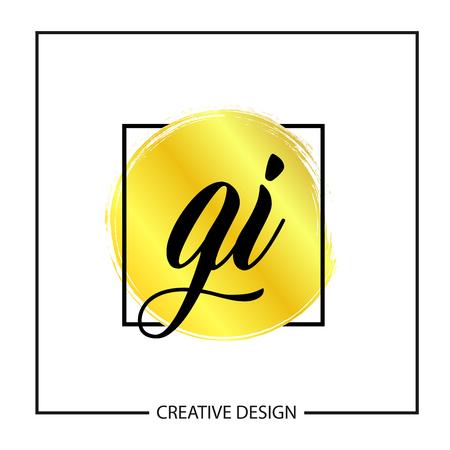 Initial Letter GI Logo Template Design Stok Fotoğraf - 112434517