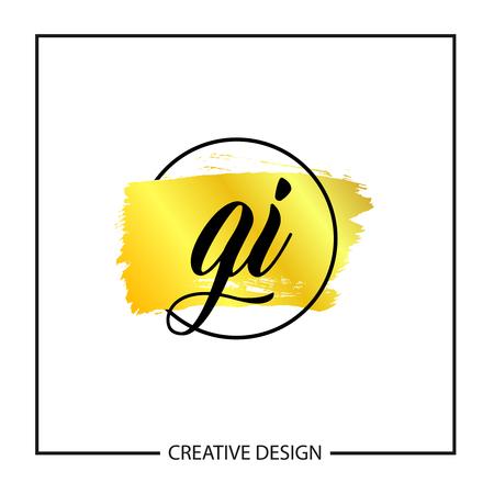 Initial Letter GI Logo Template Design Stok Fotoğraf - 112434584