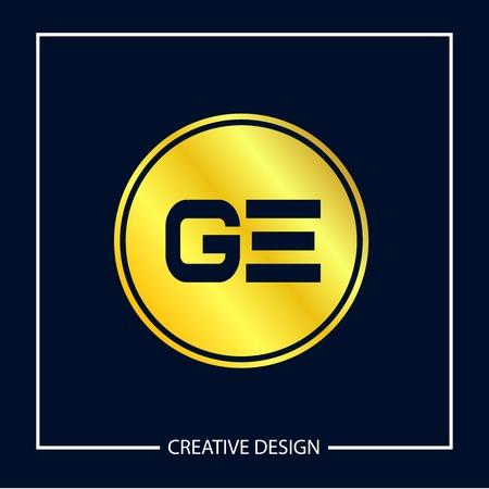 Initial Letter GE Logo Template Design Banco de Imagens - 112434587