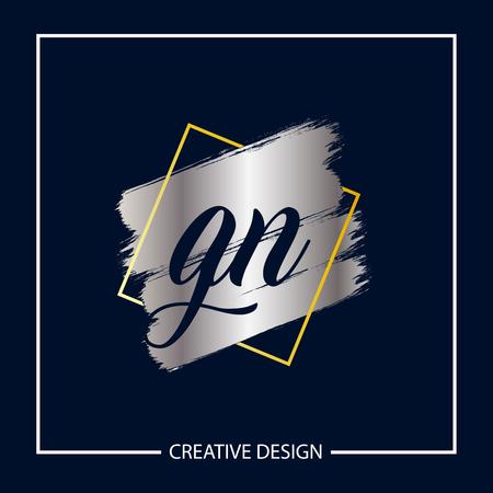 Initial Letter GN Logo Template Design Logó