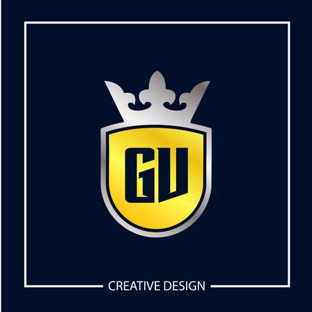Initial Letter GV Logo Template Design