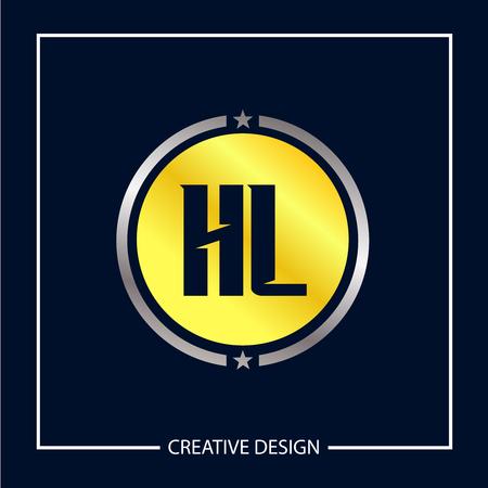 Initial Letter HL Logo Template Design