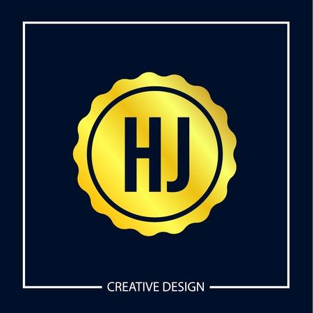 Initial Letter HJ Logo Template Design