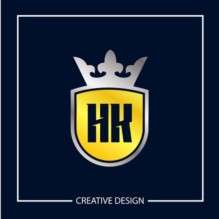 Initial Letter HK Logo Template Design