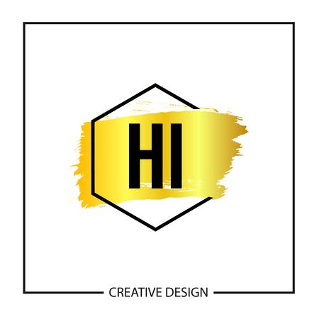Initial Letter HI Logo Template Design