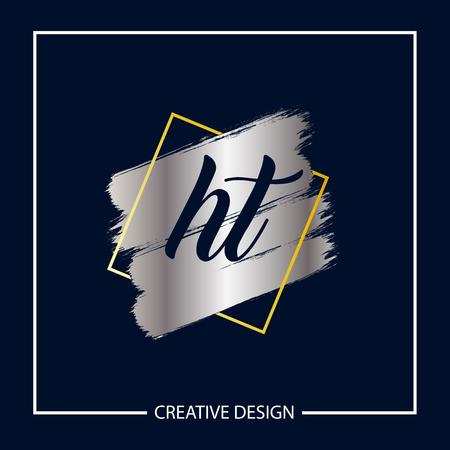 Initial Letter HT Logo Template Design Logó