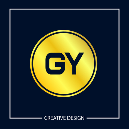 Initial Letter GY Logo Template Design