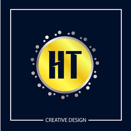 Initial Letter HT Logo Template Design