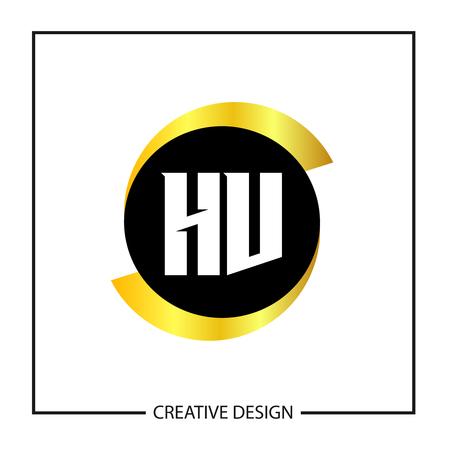 Initial Letter HV Logo Template Design Logó
