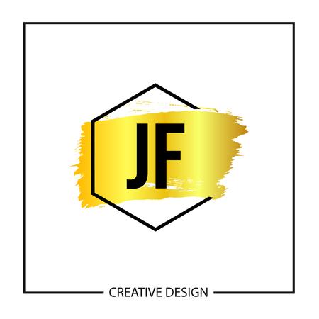 Initial Letter JF Logo Template Design Logó