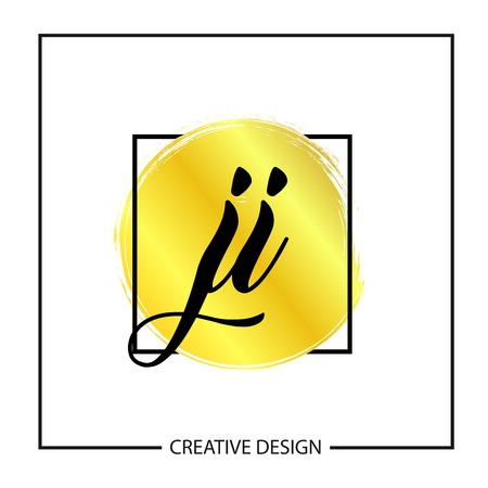 Initial Letter JI Logo Template Design Stok Fotoğraf - 112579022