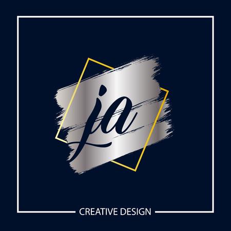 Initial Letter JA Logo Template Design Illustration