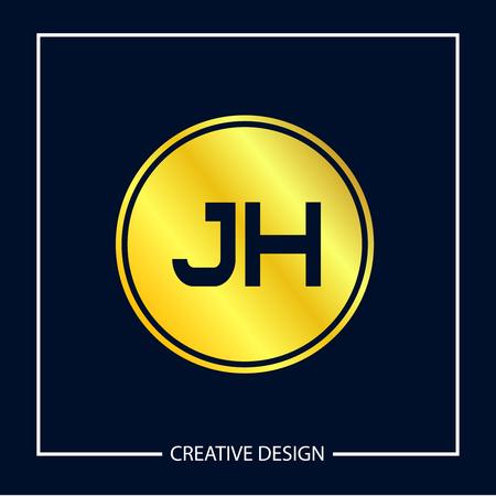 Initial Letter JH Logo Template Design