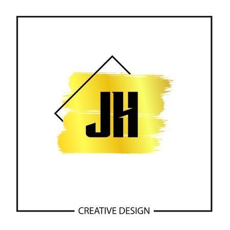Initial Letter JH Logo Template Design Logó