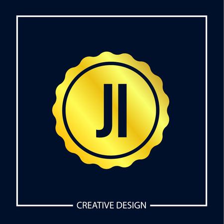 Initial Letter JI Logo Template Design