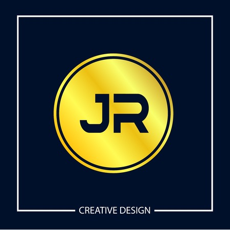 Initial Letter JR Logo Template Design