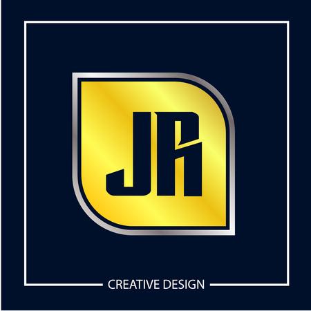 Initial Letter JR Logo Template Design Иллюстрация