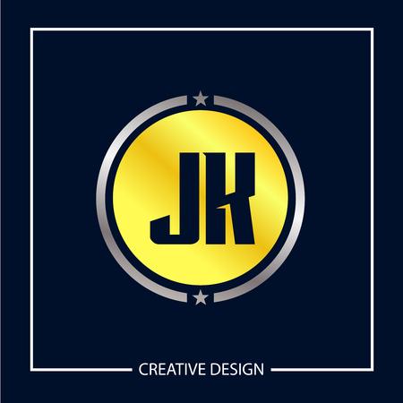 Initial Letter JK Logo Template Design