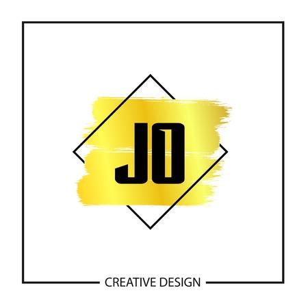 Initial Letter JO Logo Template Design