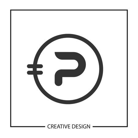 Initial Letter P Logo Template Vector Design Ilustracja